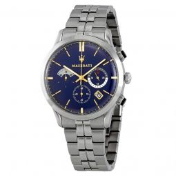 Men's Ricordo Chronograph Stainless Steel Blue Dial Watch
