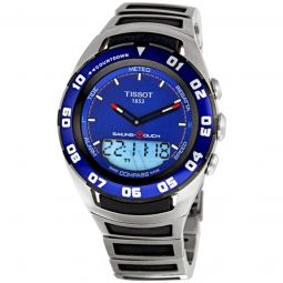 Men's Sailing Touch Stainless Steel Blue Dial Watch