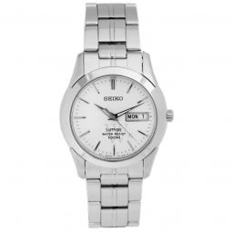 Men's Sapphire Stainless Steel Silver-tone Dial Watch