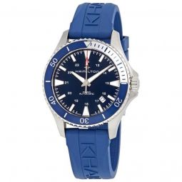 Men's Scuba Rubber Blue Dial Watch