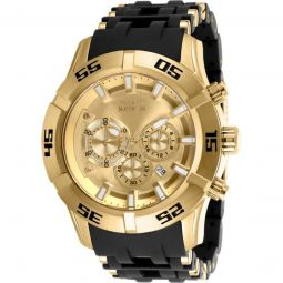 Men's Sea Spider Chronograph Polyurethane and Stainless Steel Gold-tone Dial
