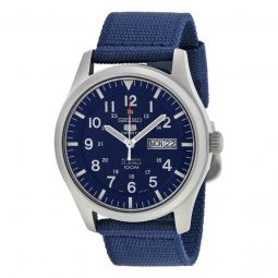 Men's Series 5 Navy Blue Canvas Navy Blue Dial Watch