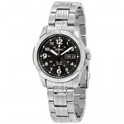 Men's Solar Stainless Steel Black Dial Watch