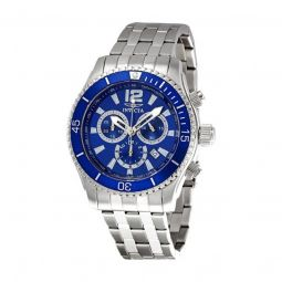 Men's Specialty Chronograph Stainless Steel Blue Dial Watch