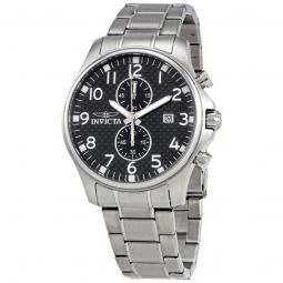 Men's Specialty Stainless Steel Carbon Fiber Dial Stainless Steel