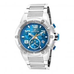 Men's Speedway Chronograph Stainless Steel Blue Dial Watch