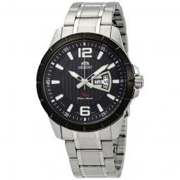 Men's Sport Stainless Steel Black Dial Watch