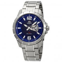 Men's Sport Stainless Steel Blue Dial Watch