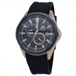 Men's Sports Silicone Black Dial Watch
