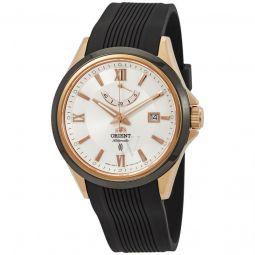 Men's Sporty Rubber White Dial Watch