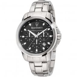 Men's Successo Chronograph Stainless Steel Black Dial