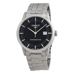 Men's T-Classic Collection Stainless Steel Black Dial Watch