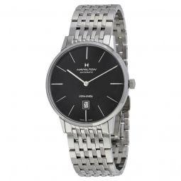 Men's Timeless Classic Stainless Steel Black Dial