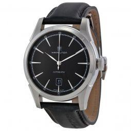 Men's Timeless Leather Black Dial