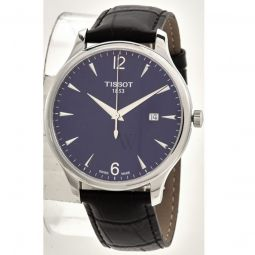 Men's Tradition Leather Blue Dial Watch