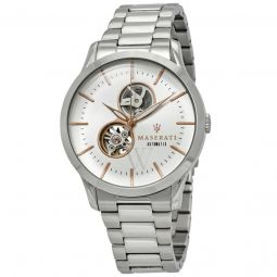 Mens Tradizione Stainless Steel White (Skeletal Window) Dial