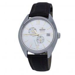 Unisex Tri Star Leather White Dial Watch