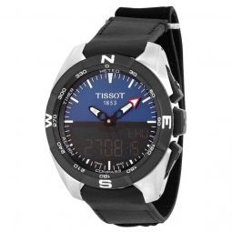 Men's T-Touch Expert Solar Chronograph Black Leather Black Dial Watch