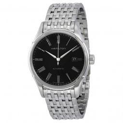 Men's Valiant Stainless Steel Black Dial Watch