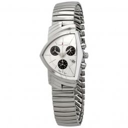 Men's Ventura Stainless Steel Expansion White Dial Watch