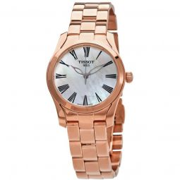 Women's T-Wave Stainless Steel White Mother of Pearl Dial