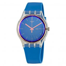 Unisex Polablue Silicone Blue Dial Watch