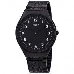 Unisex Skincoal Stainless Steel Milanese Black Dial Watch