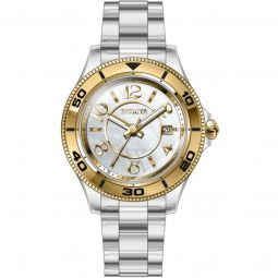 Women's Anatomic Plastic White and Gold Dial