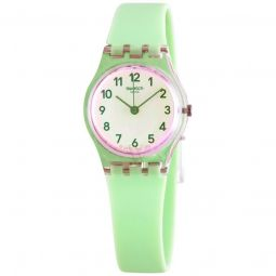 Women's Casual Green Silicone Green Dial Watch