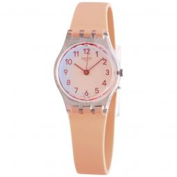 Women's Casual Pink Silicone Orange Ombre Dial Watch