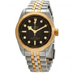 Women's Heritage Black Bay Stainless Steel and Yellow Gold Black Dial