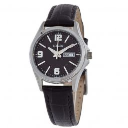 Women's Leather Black Dial