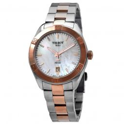 Women's T-Classic PR100 Stainless Steel Mother of Pearl Dial