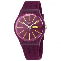 Women's Winery Silicone Red Dial Watch