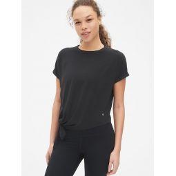 GapFit Breathe Dolman Sleeve Side-Tie T-Shirt