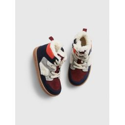 Toddler Sherpa-Lined Hi-Top Sneakers