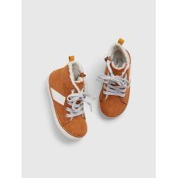 Toddler Sherpa Hi-Top Sneakers