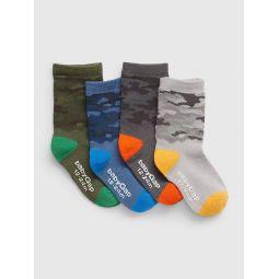 Toddler Camo Crew Socks (4-Pack)