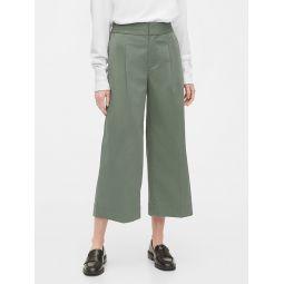 High Rise Wide-Leg Khaki Pants