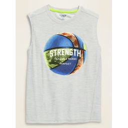 Ultra-Soft Breathe ON Graphic Tank Top for Boys