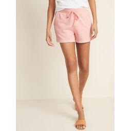 French Terry Drawstring Shorts for Women -- 3-inch inseam