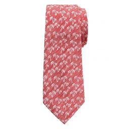 Silk-Blend Palm Tree Tie