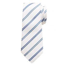 Silk-Linen Double-Stripe Tie