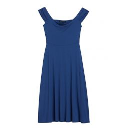Off-Shoulder Midi Knit Dress