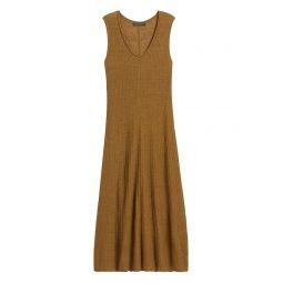 Linen-Blend Sweater Dress