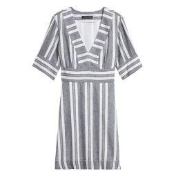 Cotton-Linen Mini Dress