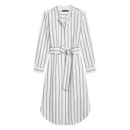 Linen-Cotton Shirt Dress