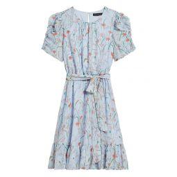 Floral Puff-Sleeve Dress