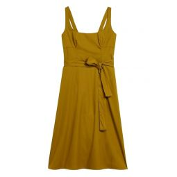 Poplin Square-Neck Dress