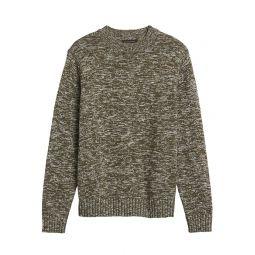 Organic Cotton High Crew-Neck Sweater